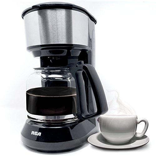 Cafetera con cesto de filtro extraíble,capacidad de 12 tazas, RCA RC-8023