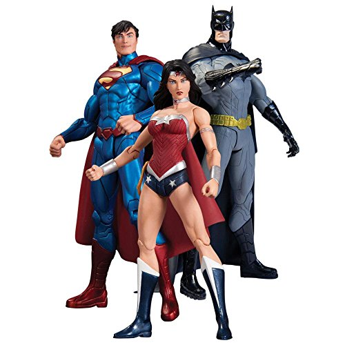Warner Bros. Justice League NEW 52 Trinity War Three Pack Action Figure Box Set