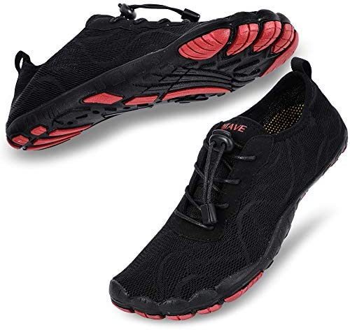 hiitave Mens Water Shoes Quick Dry Barefoot for Swim Diving Surf Aqua Sports Pool Beach Walking Sailing