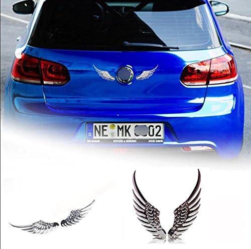 BTZHY 40CM Ange arri/ère Aile de Modification Autocollants de Voiture Ailes mat/ériau r/éfl/échissant Corps Autocollant Autocollants Noir dargent CT-754 Color Name : Silver