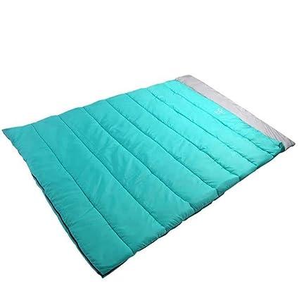 SZH&SHUID algodón saco de dormir al aire libre a prueba de agua para 2 personas azul