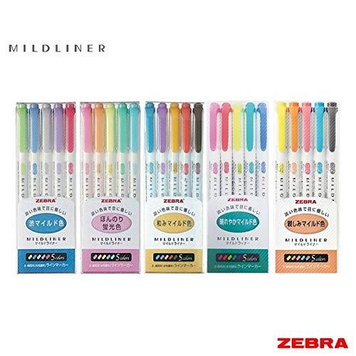 Zebra Mildliner Juego completo de 25 colores