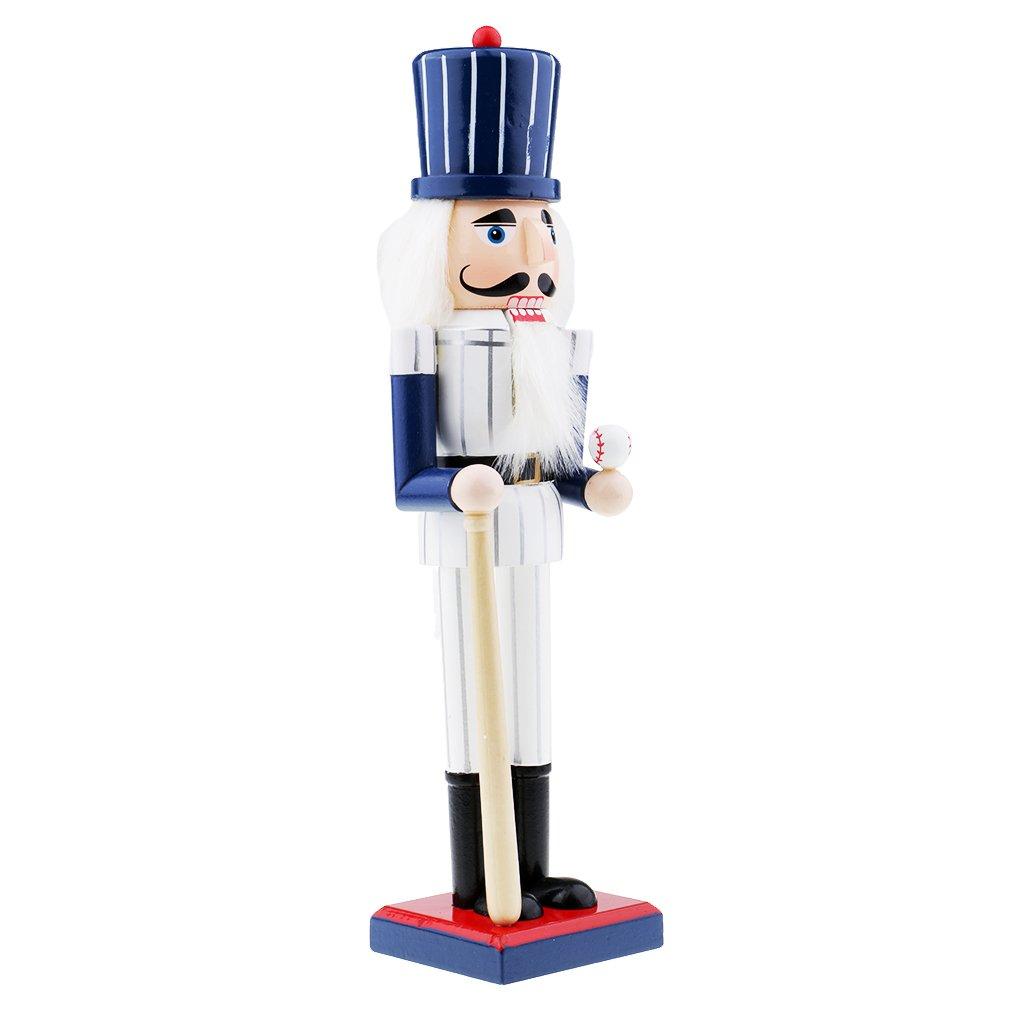 MagiDeal Wooden Handmade Police Nutcracker Walnut Statue Ornament Collectibles Puppet - #1