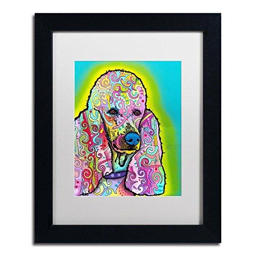Poodle Frame (Poodle by Dean Russo, White Matte, Black Frame 11x14-Inch)