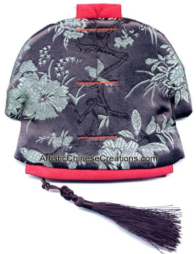 Chinese Apparel / Chinese Clothing & Accessories: Chinese Jacket Silk Purse - Birds & Flowers by Artistic Chinese Creations