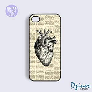iPhone 5c Tough Case - Newspaper Heart iPhone Cover