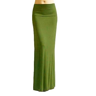 ABASSKY Gypsy - Falda Larga para Mujer - Verde - XXX-Large: Amazon ...
