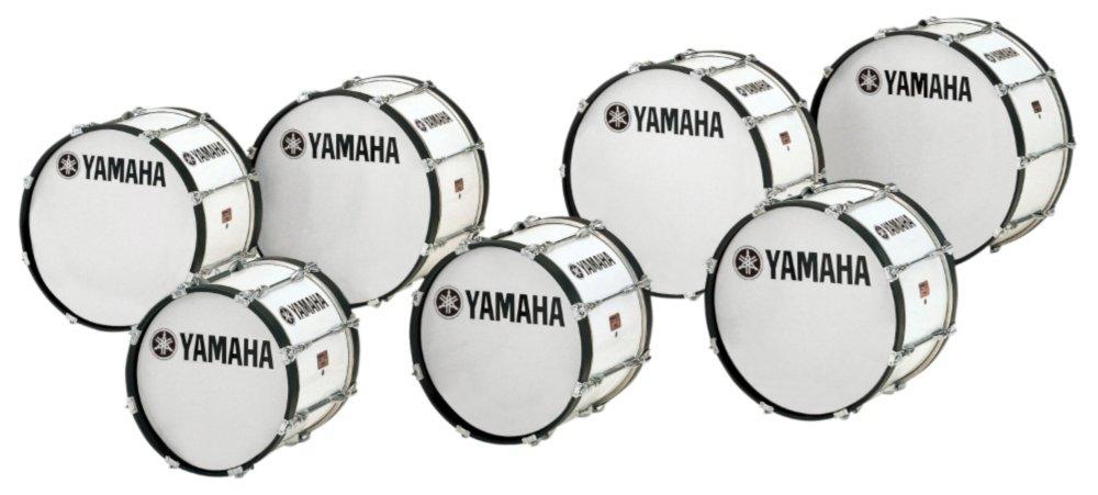 Yamaha Power-Lite Marching Bass Drum White Wrap 26x14