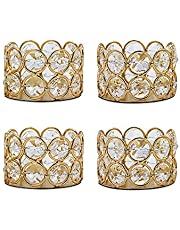 VINCIGANT Pack of Gold Tea Light Candle Holders for Wedding Home Table Centerpiece Decor