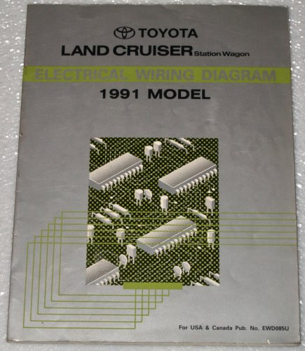 1991 toyota land cruiser electrical wiring diagram fj80 series rh amazon com