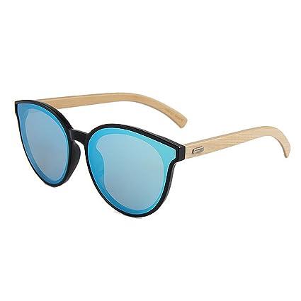 Chlyuan Azul bloqueando Gafas Simple Cat Eyes Style Bamboo ...
