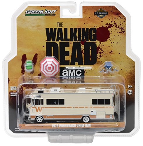 (Greenlight HD Trucks Series 10 - The Walking Dead (2010-Current TV) - 1973 Winnebago Chieftain with Umbrella & Camping Chairs)