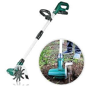 20V Handheld Tiller Rotavator, Portable Electric Tiller, Cordless Soil Rotovator Tiller with Rechargeable Battery for…