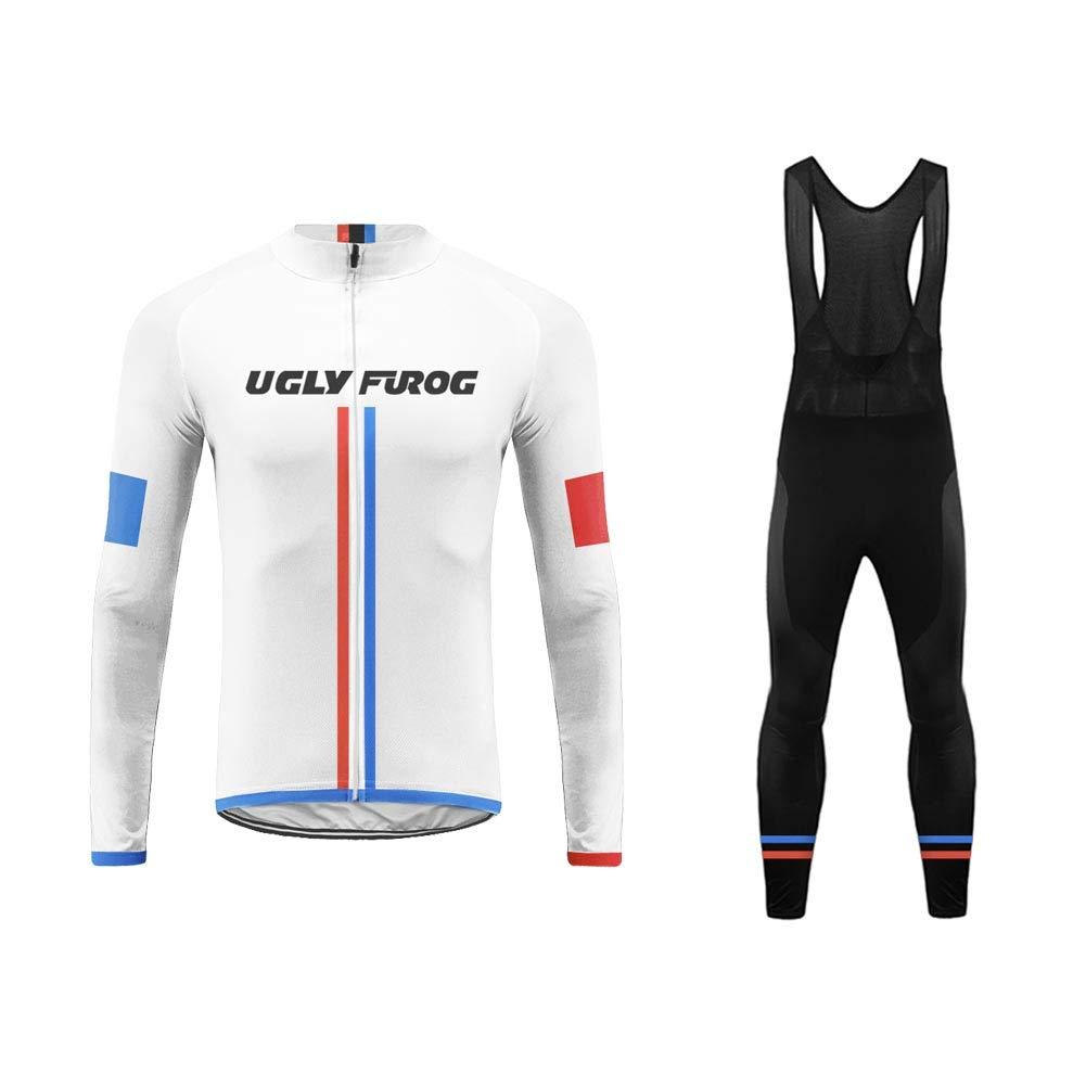 Camiseta de Manga Larga para Hombre para Deporte y Tiempo Libre Uglyfrog LSNL02