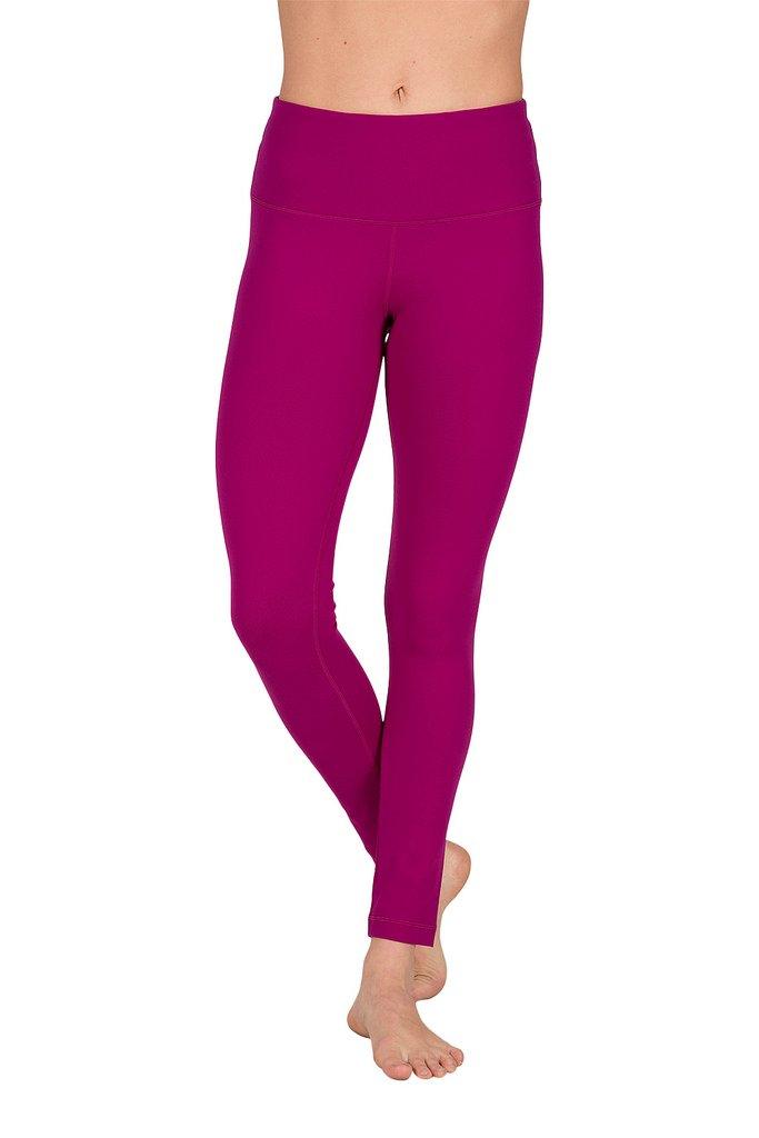 90 Degree By Reflex High Waist Power Flex Legging – Tummy Control - Dark Magenta Haze - XS