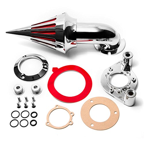 Krator Chrome Spike Air Cleaner Intake Filter For 2000-2006 Harley Davidson XL Models Sportster