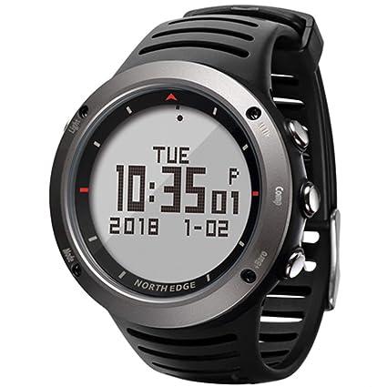 MSQL Reloj Digital Deportivo para Hombre, altímetro barométrico podómetro brújula, 50 m Impermeable,