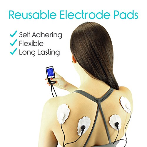 TENS Unit by Vive - Portable Electric Stimulation Machine - EMS Neuropathy Pain Relief Therapy - Muscle, Nerve, Back Pain and Tendonitis - Electrotherapy, Digital Pulse Massager and Home Stim Device by VIVE (Image #2)