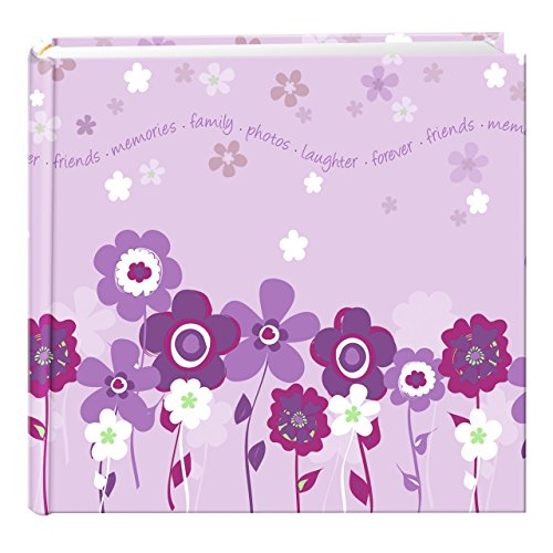 Pioneer Photo Albums 200 Pocket Printed Lavender Blooms Design Photo Album for 4 by 6-Inch Prints ()
