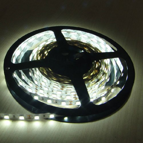 16.4ft (5m) PURE WHITE Flexible LED Strip Lights - 5050 SMD 300LEDs/pc - Non-waterproof IP-44