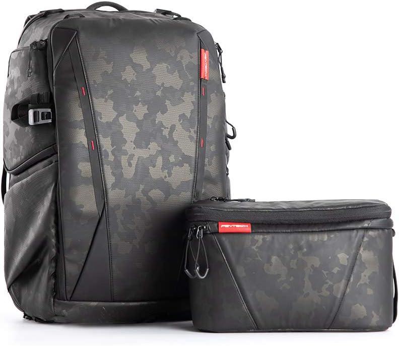 PGYTECH OneMo Camera Backpack 25L with Shoulder Bag Professional for Sony 200-600mm lens, Canon, Nikon, Drone, DJI OSMO Action/Pocket/OM 4, Mavic Air 2/Mini/2, DSLR/SLR Mirrorless, Camera Tripod (Olivine Camo)