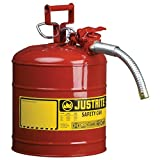 Justrite Type II Accuflow Safety Can, 5 Gallon (Red, For Flammables)