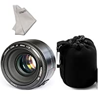Yongnuo YN50mm F/1.8 AF Lens+ LYNCA Waterproof Lens Protect Bag for Canon EOS Rebel Camera