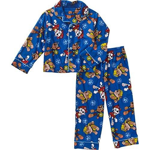 Paw Patrol Little Boys' 2-Piece (Blue) Pajama Coat
