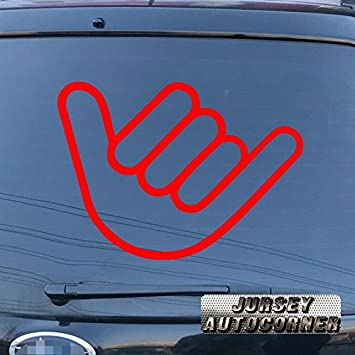 Shaka sign hang loose hawaii car decal sticker truck window vinyl die cut no background pick