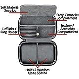 2 Watch Travel Case Storage Organizer for 2 Watches