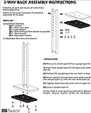 SSWBasics White 2-Way Clothing Rack with Straight