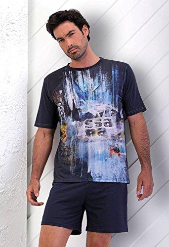 Massana - Pijama verano Hombre Azul marino MASSANA Blue World - MARINO, L