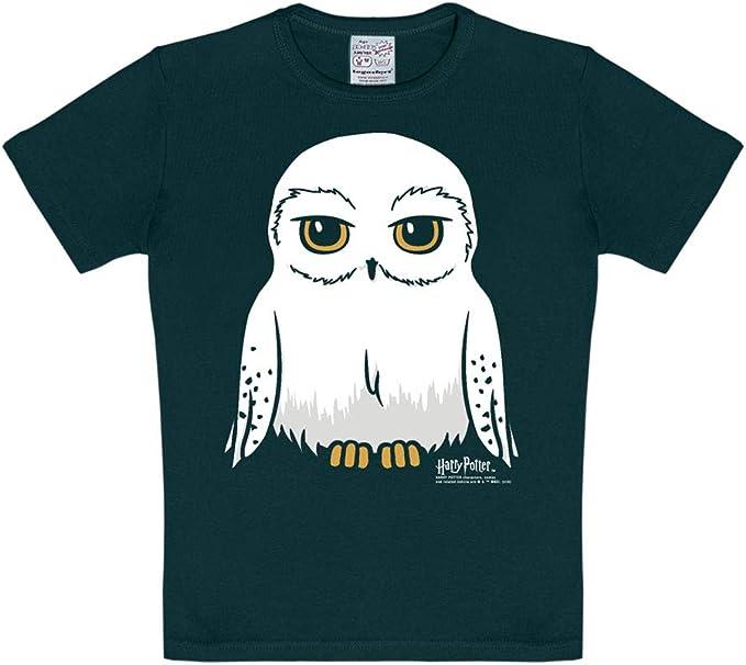 Logoshirt - Harry Potter - Lechuza - Hedwig - Camiseta - Negro - Diseño Original con Licencia: Amazon.es: Ropa y accesorios