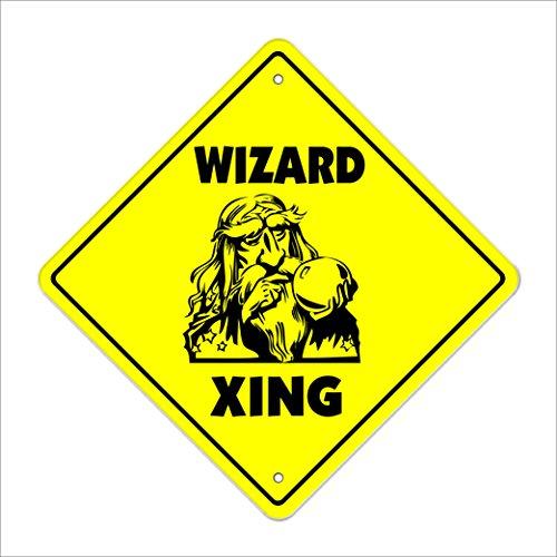 Wizard Crossing Sign Zone Xing | Indoor/Outdoor | 12