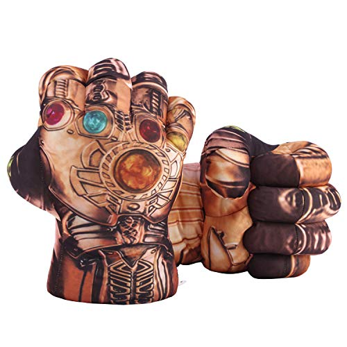 Toyart Thanos Gloves Infinity Gauntlet Hands for Kids of All Ages, Works Fine as Boxing Training Gloves, Thanos Toys Work for Roleplay Costume, 1 Pair Brown