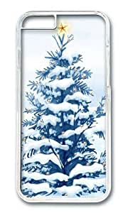 MOKSHOP Adorable Christmas Snow Trees Hard Case Protective Shell Cell Phone Cover For Apple Iphone 6 Plus (5.5 Inch) - PC Transparent