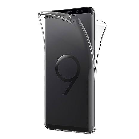AICEK Funda Samsung Galaxy S9, Transparente Silicona 360°Full Body Fundas para Samsung S9 Carcasa Silicona Funda Case (5,8 Pulgadas)
