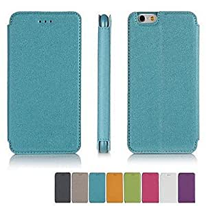 HaleyL-Stripe Design Solid Colour PU Leather Full Body Case with Stand for iPhone 6(Assorted Color),Orange