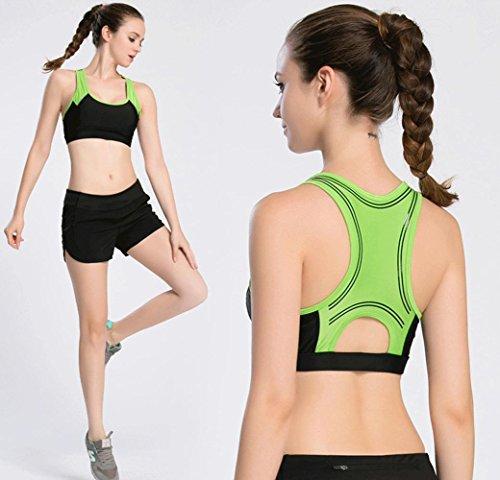 Mujer Bra / Shock / Deportes / Fitness / Deportes Ropa Interior , black , m BLACK-S
