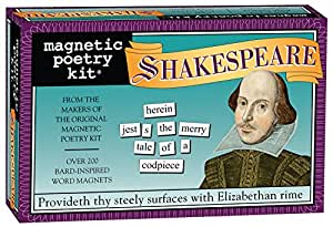 Magnetic Poetry - Shakespeare Kit - Words for Refrigerator - Write Poems and Letters on the Fridge - Made in the USA