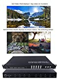 2x2 Video Wall & 4x4 Seamless HDMI Matrix Switcher Processor 1080P HD Splicer Splitter Four Displays