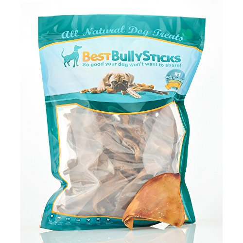 Half-Cut Pig Ear Dog Treats by Best Bully Sticks (50 Count Value Pack)