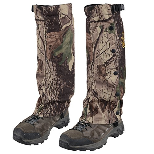 AMYIPO Unisex RealTree Camo Hunting Gaiter Waterproof Stalker - Camouflage Leg Gaiters
