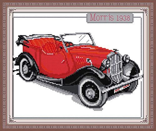 (Joy Sunday Cross Stitch Kits,Still Life Style,Bubble car,14CT Counted, 33cm×28cm or 12.87