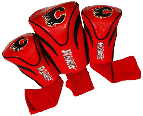 NHL Calgary Flames 3 Pack Contour Headcovers (Shops Calgary Outdoor)