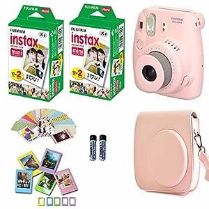 Fujifilm Instax Mini 8 Film Camera (Yellow) + 2 Twin Packs Instax Film (40 Shots Total)