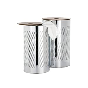 Torre & Tagus 1218-171000 Metro Chrome Laundry Basket, Set of 2