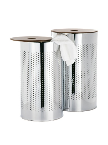 Torre & Tagus 1218-171000 Metro Chrome Laundry Basket, Set of 2 by Torre & Tagus