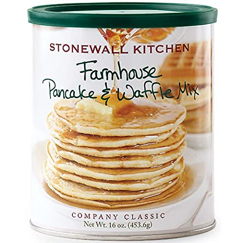 Stonewall Kitchen Farmhouse Pancake and Waffle Mix, 16 Ounce Can - Simply Delicious Muffins