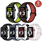 OriBear Compatible for Apple Watch Band 44mm 42mm 40mm 38mm, Breathable Sporty for iWatch Bands Series 4/3/2/1, Watch Nike+, Various Styles and Colors for Woman and Man